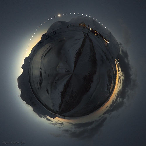 solar eclipse little svalbard planet spitsbergen totality longyearbyen