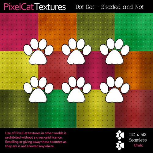 PixelCat Textures - Dot Dot - Shaded and Not