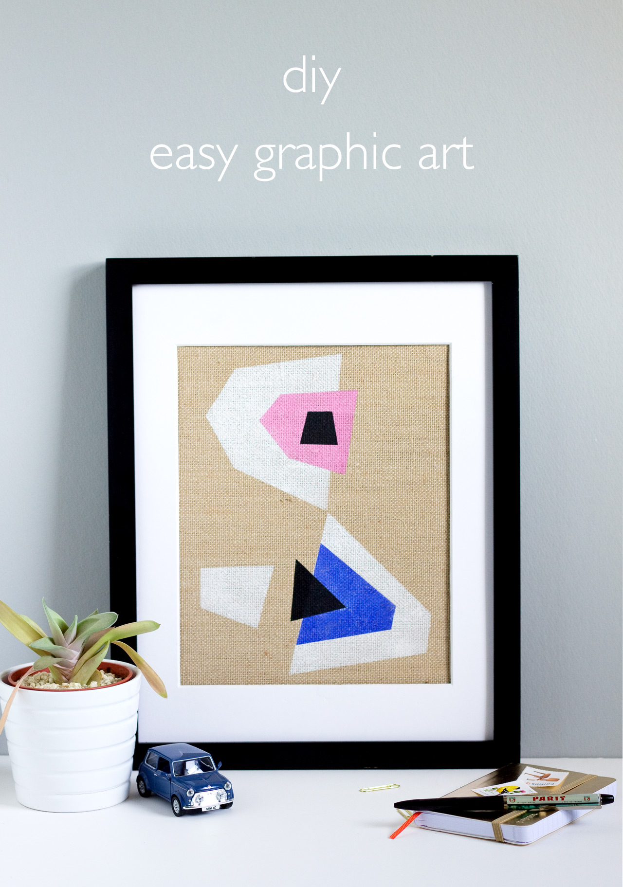 DIY Easy Graphic Art | click through for the full tutorial!