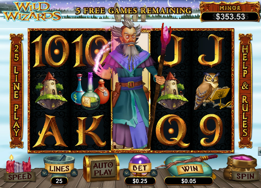 gambling slots online wizards win
