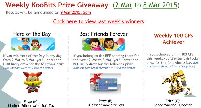 KooBits 9 - Prize