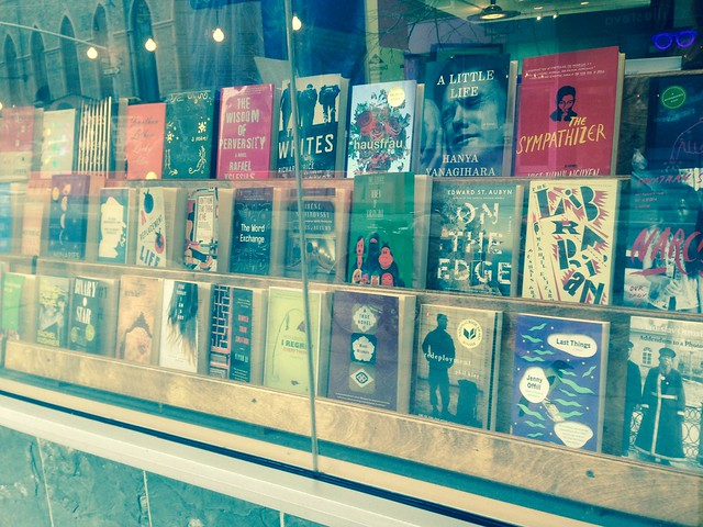 beautiful window display at mcnally jackson