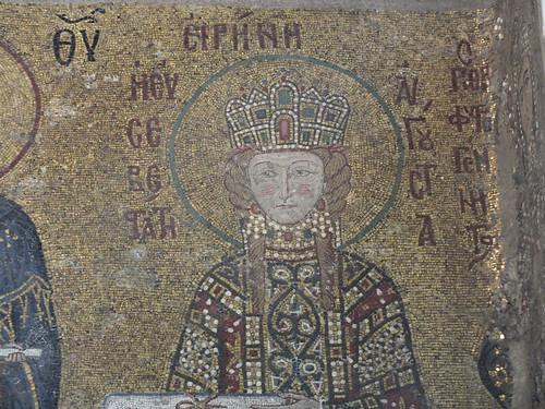 Szent Piroska mozaik az AyaSofya templomban