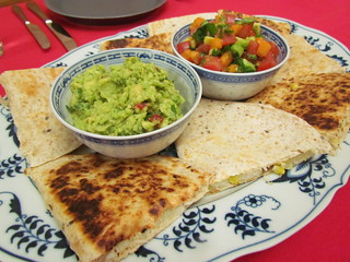 Grilled Yuca Tortillas; Guacamole; Tropical Avocado Salsa Fresca