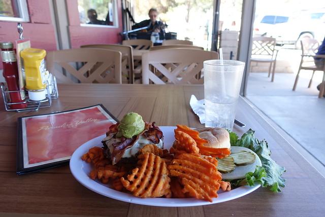 PCT.  Paradise cafe Jose burger, sans jalapeños