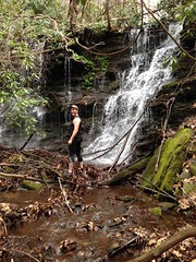 Me at Henson Branch Falls Lower Cascade