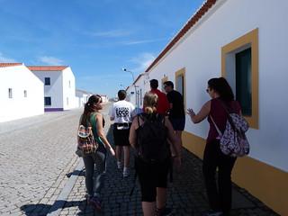 El grupo en Aldeia da Luz (Alentejo, Portugal)