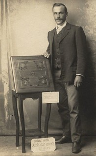 Rowland King with his First Prize circa 1912