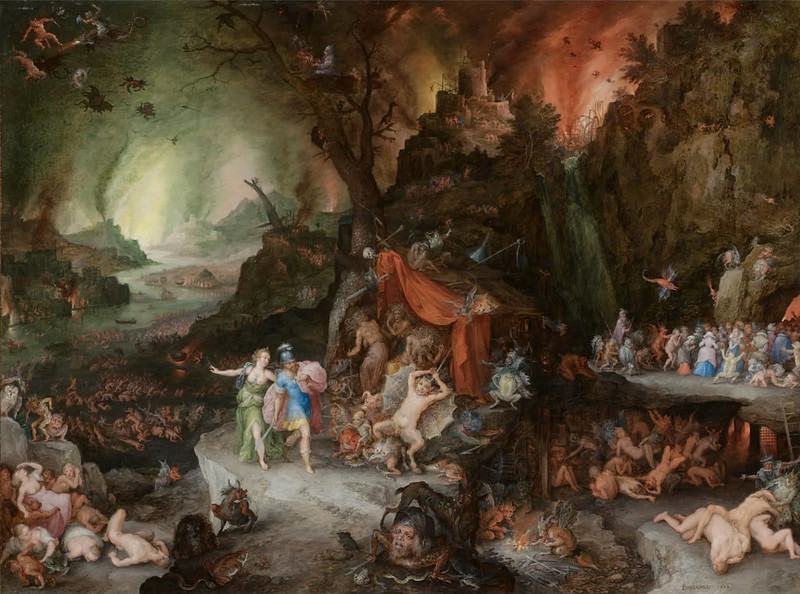 Jan Brueghel The Elder - AENEAS AND THE SIBYL IN THE UNDERWORLD, 1598