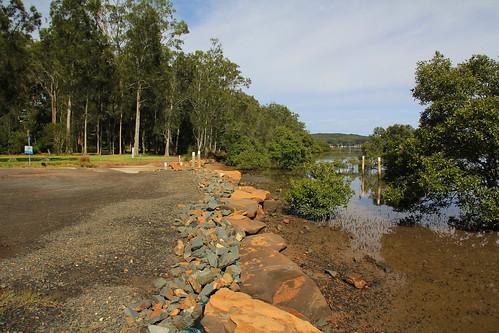 Car & Boat Parking Area, Steven Rich Reserve, Bundabah, near Tea Gardens, NSW, 17.4.2015