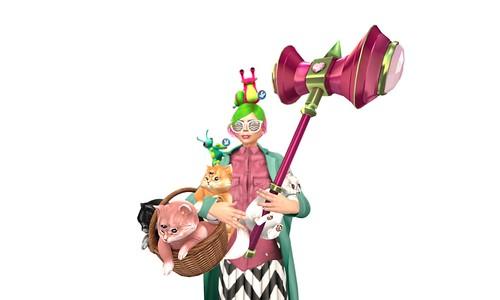 JUSTICE COURTESY OF (wear)*katat0nik* (melon) Heart War Hammer Click to resize RARE