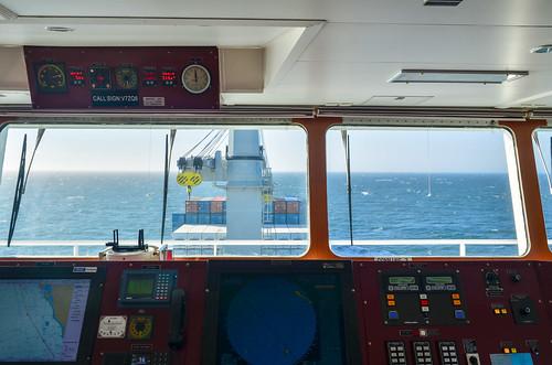 Vessel bridge and dashboard: daytime
