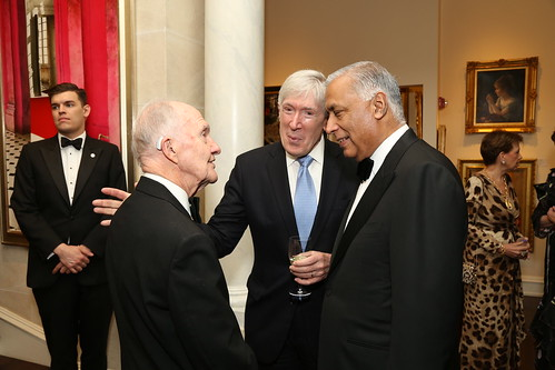 General Brent Scowcroft, Robert Hormats, Shaukut Aziz