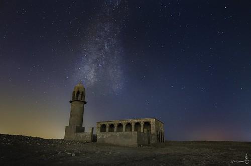 sky abandoned night stars nikon outdoor mosque tokina doha qatar milkyway samim qatarliving exploreqatar rawdatrashid summer2016 june2016 zaiqtr eidalfitr2016