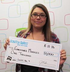 Constance Moralez - $1,000 Lucky No. 7