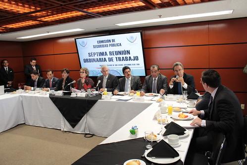 El día 20 de septiembre del 2016 se llevó a cabo en la H. Cámara de Diputados la 7ma reunión de trabajo de la Comisión de Seguridad Pública.