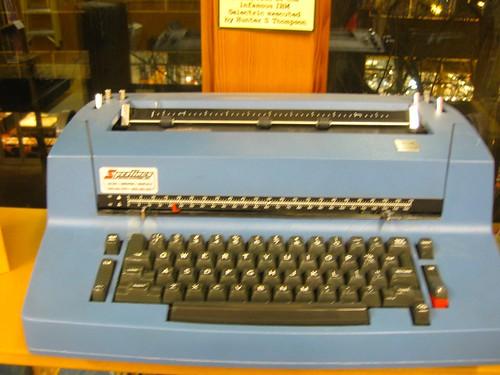Hunter S Thompson's typewriter