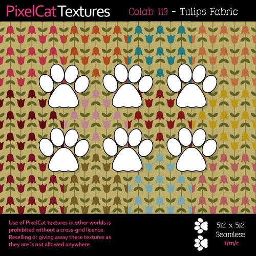 PixelCat Textures - Colab 119 - Tulips Fabric