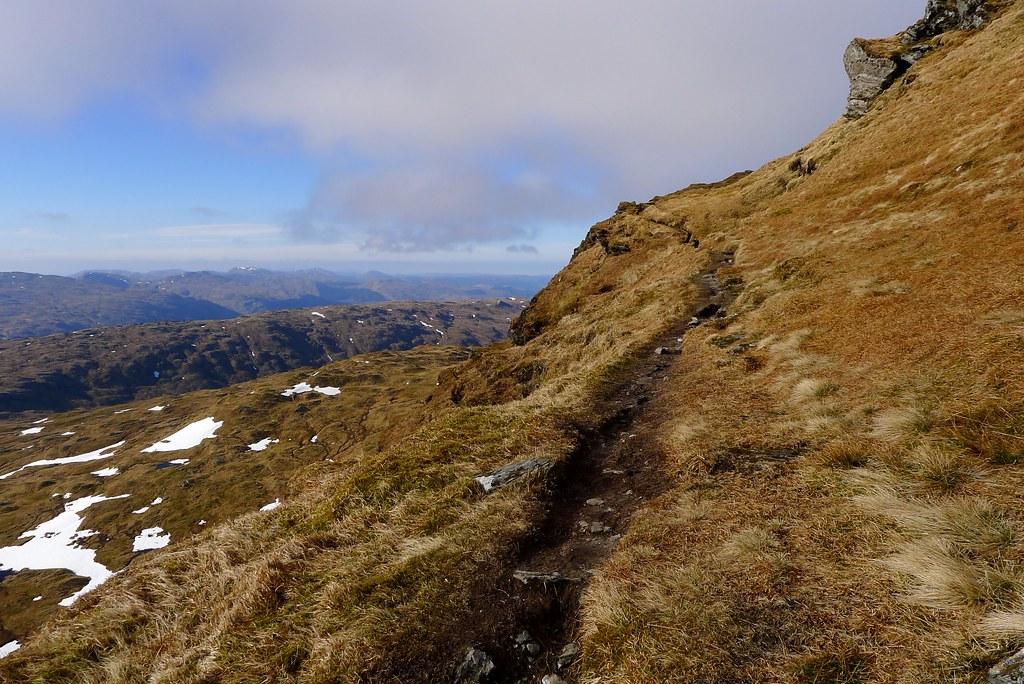 Ridge path on Beinn Bhuidhe