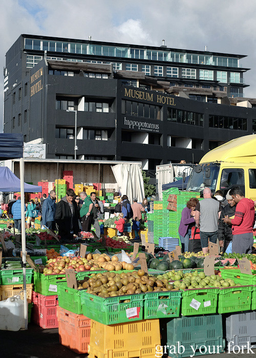Harbourside Market in front of Museum Hotel, Wellington