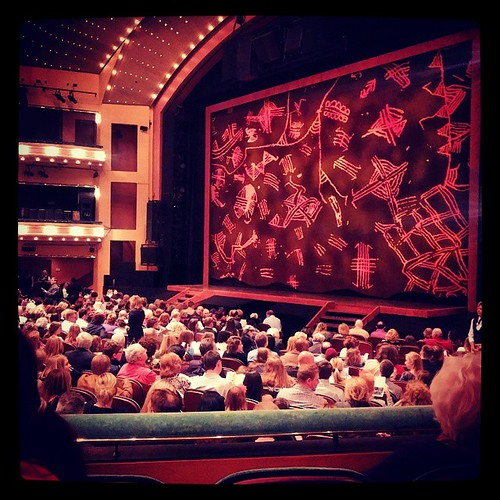 Our seats for opening night of The Lion King...