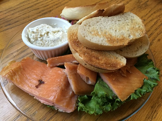 Smoked trout plate - Mountain Room Lounge