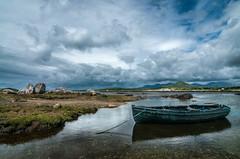 Rowing boat at Glynsk Cott, Connemara