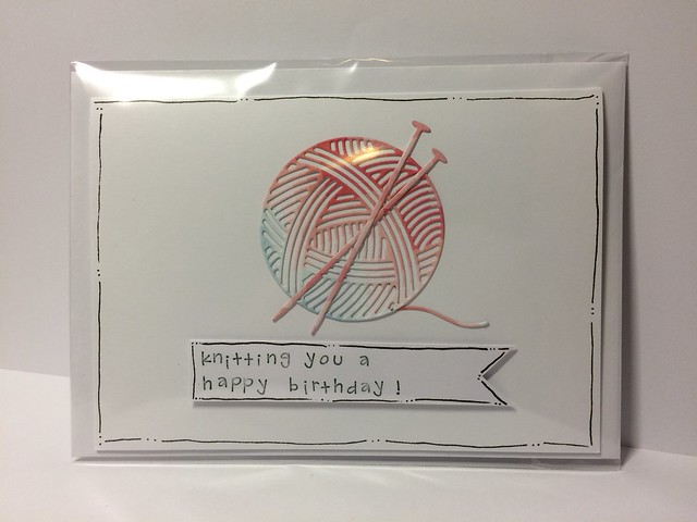 Knitting cards - Knitting birthday card by StickerKitten