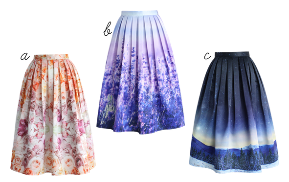 chicwish midi skirts