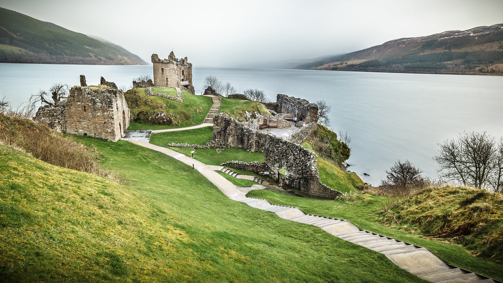Urquhart Castle, Loch Ness, Inverness, Scotland, United Kingdom, travel photography picture