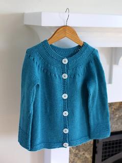 Little Girl Presents-Wallaby 10 ply sweater in frogtree yarn
