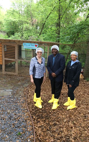 USDA Chief Scientist Dr. Catherine Woteki, Dr. Fidelis (Fidel) Hegngi, with the APHIS National Exotic Newcastle Disease (END) Program, and Dr. Denise Brinson Director of APHIS National Poultry Improvement Plan