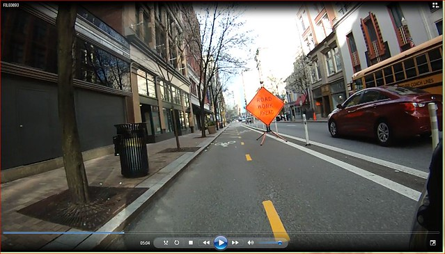 bike lane obstruction