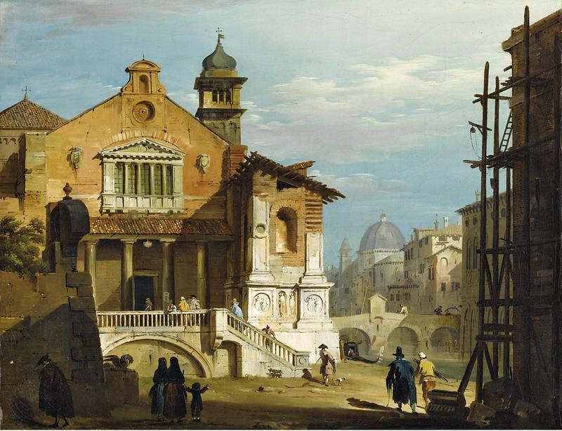 Giovanni Migliara - Fantasy view of a venetian square