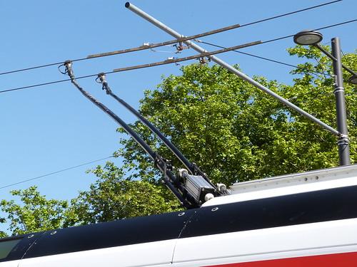 Perches de trolleybus à Lyon