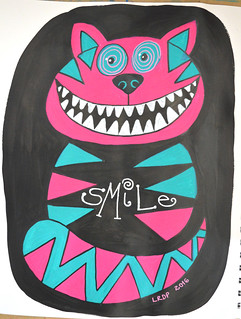 28 - Smile - Cheshire Cat - Art Journal Page