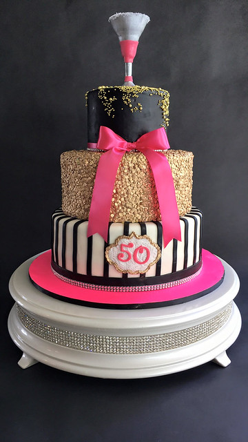 Golden Martini Cake by Silvania Wrye of Sweet Creations by Silvania