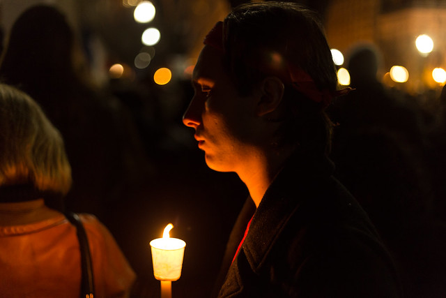 Candlelight Vigil for Paris