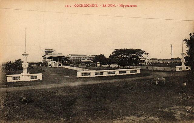 Cochinchine - SAIGON - Hippodrome - Trường đua ngựa đầu tiên tại Saigon, Rue Verdun (trước 1975 là đường Lê Văn Duyệt, nay là CMT8)