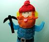 Custom Yukon Cornelius Finger Puppet