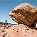 Moab - A Big Rock & A Mountain Biker by Photo-John