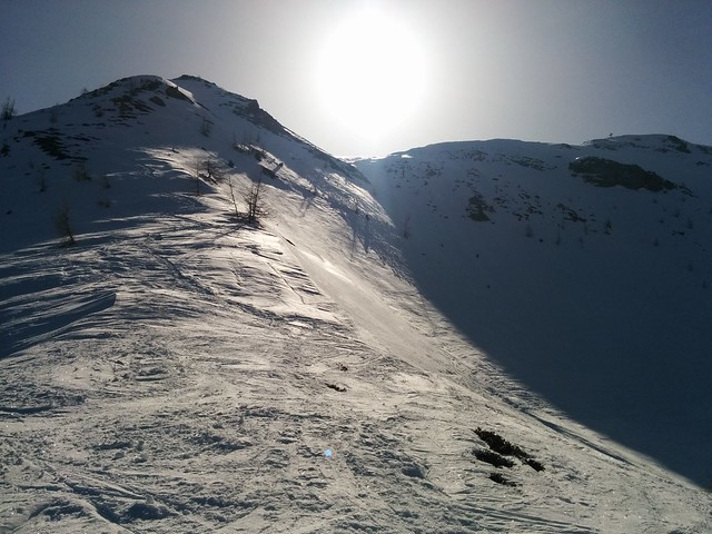 Gipfelkreuz der Öfenspitze bereits in Sicht