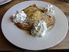 farmer's cheese blintz at Cafe Europa in San Francisco
