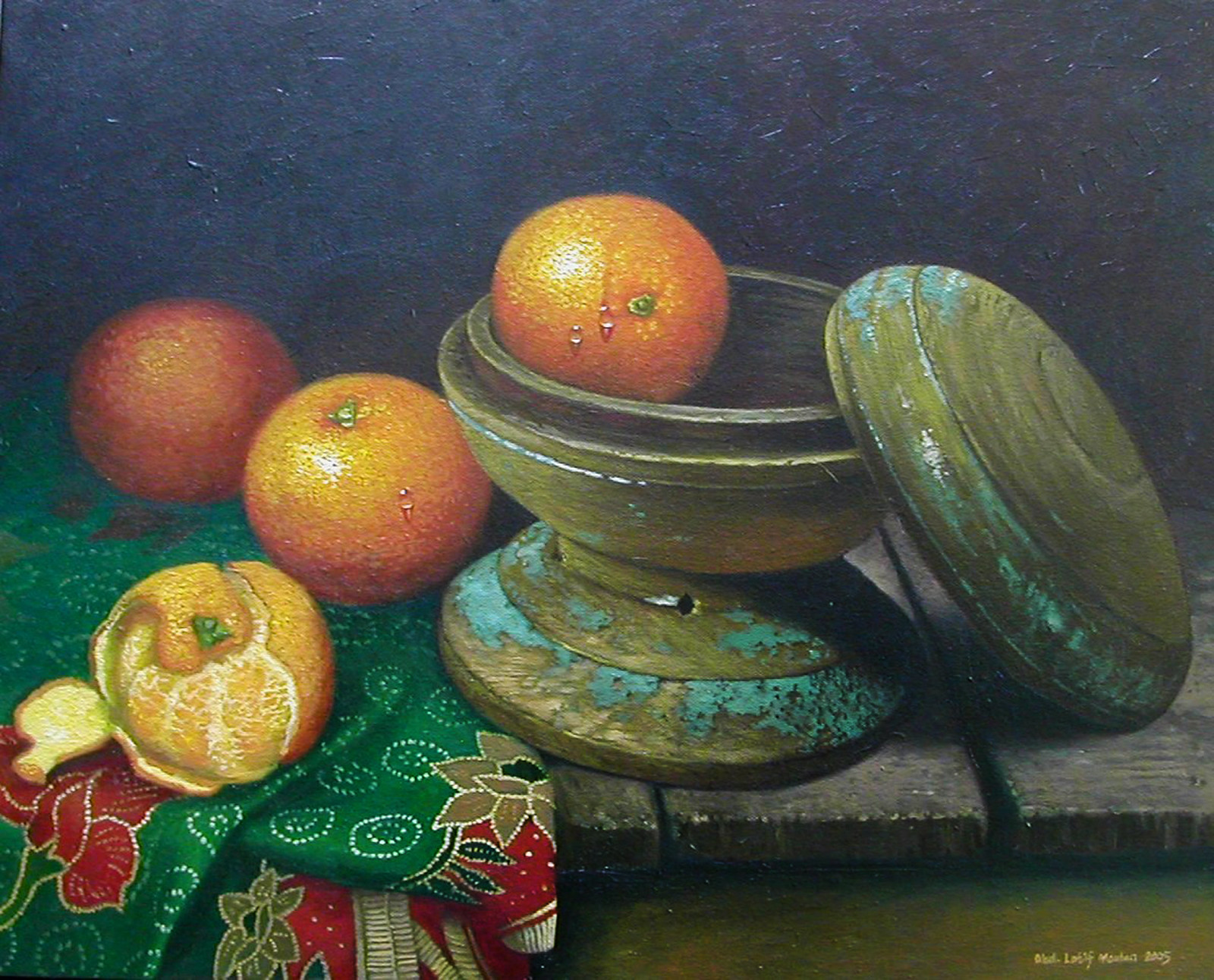 Oil painting by Latif Maulan