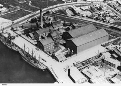Aerial view of Colonial Sugar Refinery at Glanville. - Photograph courtesy of the State Library of South Australia