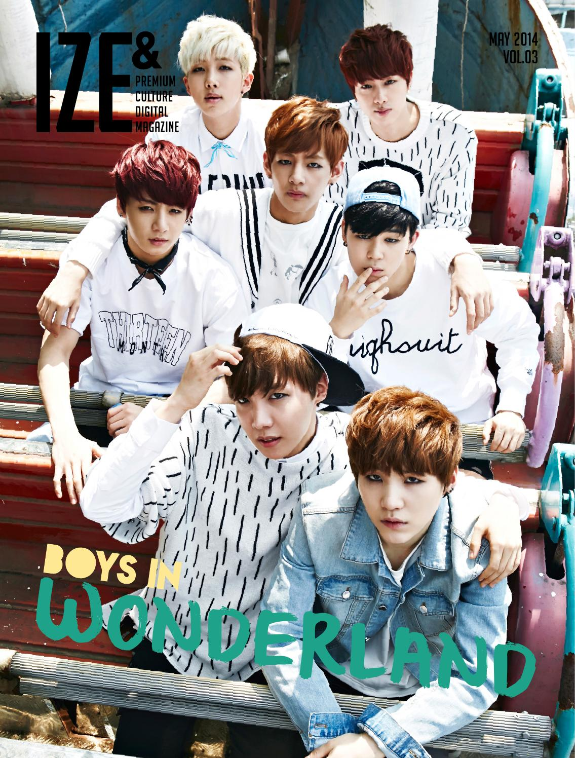 Picture/Magazine] BTS at Ize Magazine [140501]