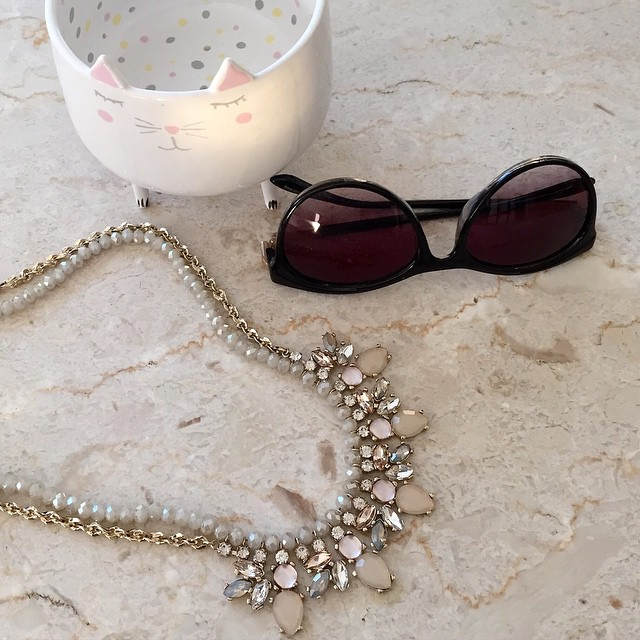 This @loft neutral rondelle chain #necklace is so cute and sparkly. ✨ Grab one on sale and use the stackable code I shared #ontheblog. #linkinprofile @liketoknow.it www.liketk.it/19zo4 #liketkit #anthropoligie #sunglasses #statementnecklace #love