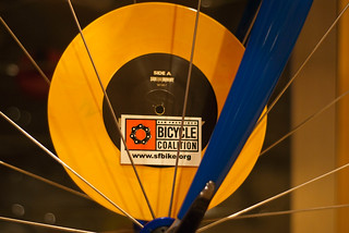 22628 Bike to Record Stores - logo sticker