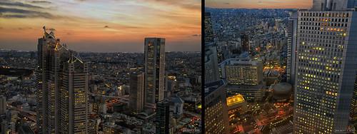 light sunset sky buildings atardecer tokyo luces edificios nikon shinjuku skyscrapers observatory cielo mirador ayuntamiento rascacielos metropolitangovernment gobiernometropolitano jesuscm
