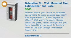 Dalmation Co Wall Mounted Fire Extinguisher and Case